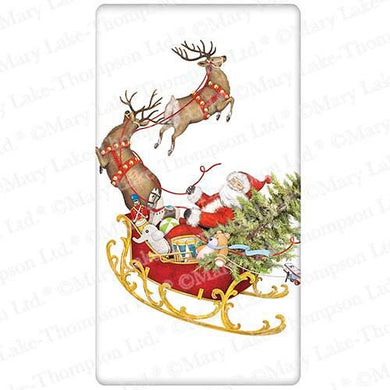 Flour Sack Kitchen Dish Towel Santas Sleigh Mary Lake - Thompson