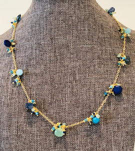 "Blue Jelly 17"" Necklace"