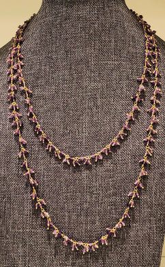 "Amethyst 36"" Necklace"