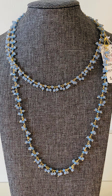 "Blue Chalcedony 36"" Necklace"