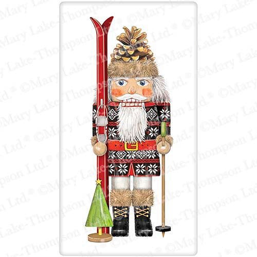 Flour Sack Kitchen Dish Towel Nutcracker Skier Mary Lake - Thompson
