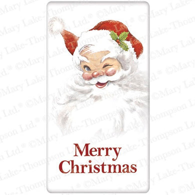 Flour Sack Kitchen Dish Towel Santa Winking Mary Lake - Thompson