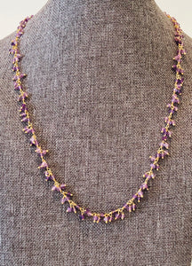 "Amethyst 18"" Necklace"