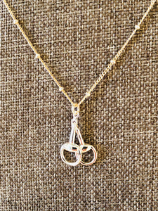 "Equestrian Sterling Silver 16""-18"" Snaffle Bit Necklace"