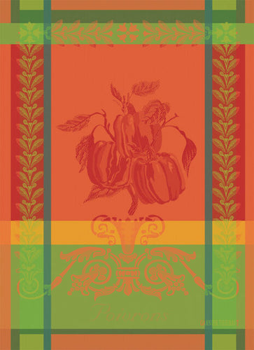 Garnier-Thiebaut French Country Kitchen Towel Poivron Paprika
