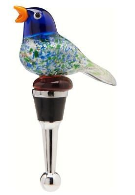 Bird Wine Bottle Stopper Art Glass