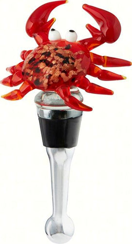 Red Crab Wine Bottle Stopper Art Glass