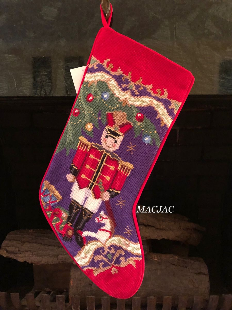 Christmas Soldier Needlepoint Stocking