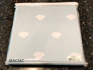 "Sferra Baby Blanket Blue/Clouds 100% Cotton 30""x40"