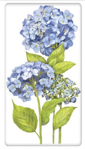 "Flour Sack Kitchen Dish Towel ""Hydrangea Stalks"" Mary Lake - Thompson"