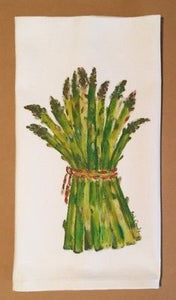 "Asparagus Cotton Huck Towel 18""x31"""