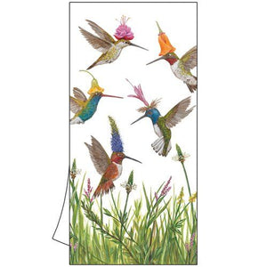 "100% Cotton Kitchen/Bar Hummingbird Towel ""Meadow Buzz"""