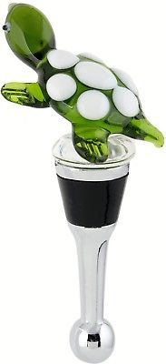 Turtle Wine Bottle Stopper Art Glass