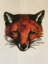 Load image into Gallery viewer, Fox Mask Bar/Hand Linen Towels (set of 2)