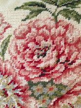 "Load image into Gallery viewer, Floral Pink Brianna Needlepoint Pillow 14""x 14"""