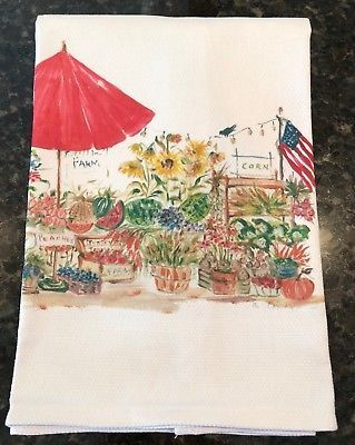 Out In The Country Cotten Huck Towel 18