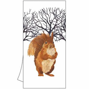 "100% Cotton Kitchen/Bar Towel ""Winter Squirrel"""