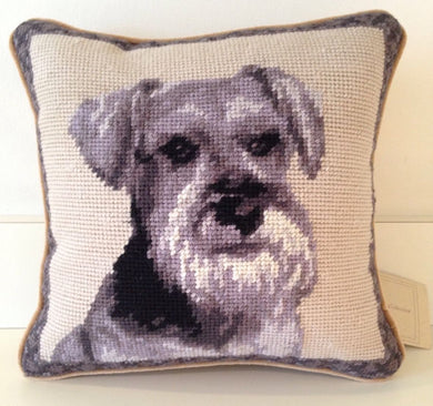 Schnauzer Dog Needlepoint Pillow 10