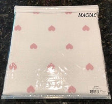 "Load image into Gallery viewer, Sferra Baby Blanket White/Pink Hearts 100% Cotton 30""x40"""