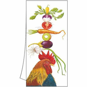 "100% Cotton Kitchen/Bar Rooster Towel ""Homer The Rooster"""