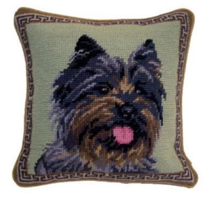 "Cairn Terrier Dog Needlepoint Pillow 10""x 10"""