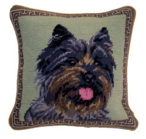 Cairn Terrier Dog Needlepoint Pillow 10