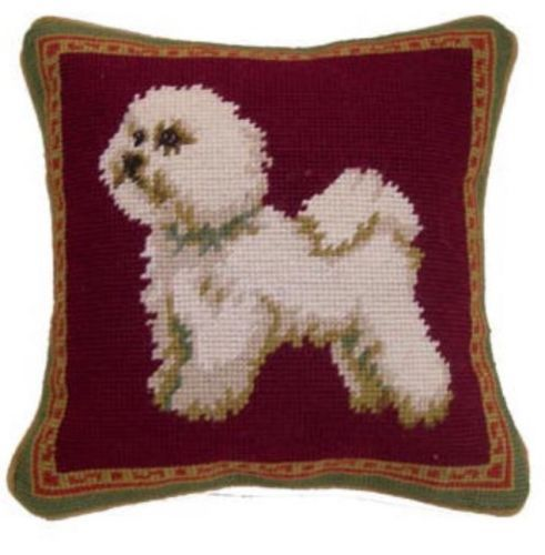 Bichon Dog Needlepoint Pillow 10