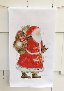 "Good Ol' Santa Cotton Huck Towel 18""x31"""