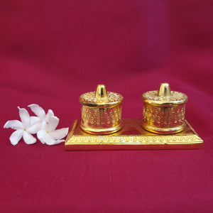 Manjal kumkum twin holder