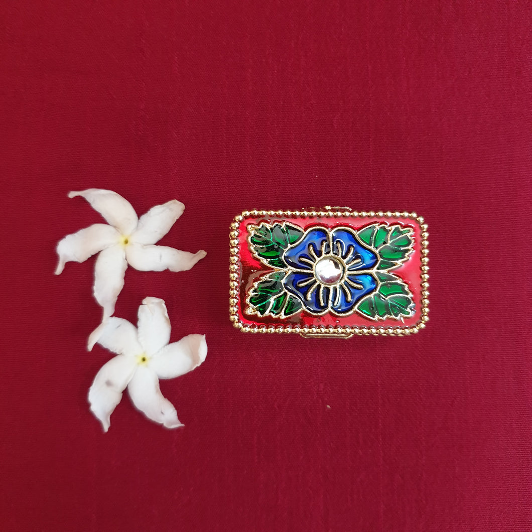 Meenakari kumkum daba (rectangle)