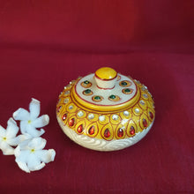 Load image into Gallery viewer, Marble Kumkum Dhabba type 1