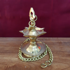 Tanjore style lamp with 7 face