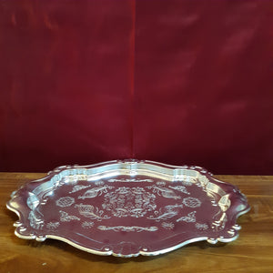 Oval carved plate ..big