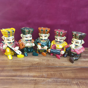 Rajasthani musical set of 5....4""