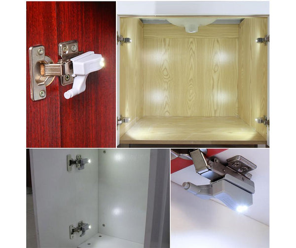 0.25W Inner Sensor Light LED Hardware Under Cabinet Hinge Light Universal Kitchen Bedroom Living Room Cupboard Wardrobe Light
