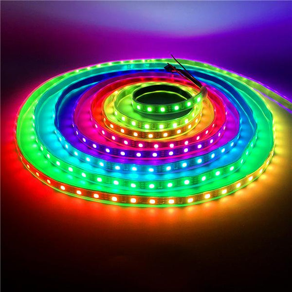 0.5-5M 30/60 LEDs/M 2811 Pixels Programmable Individual Addressable LED Strip light WS2811 5050 RGB 12V Black LED Tape lamp