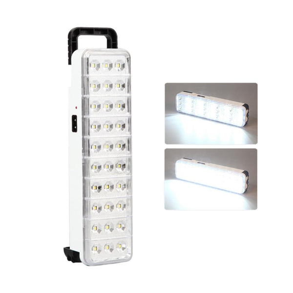 Wholesale Emergency LED light flashlight mini 30 LED Rechargeable Emergency Light Lamp 2 Mode for Home camp outdoor 40