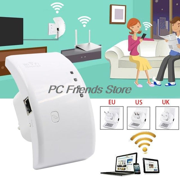 Wifi Booster Repeater Extender Range 300Mbps Wireless AP Router 802.11n EU Plug-PC Friend