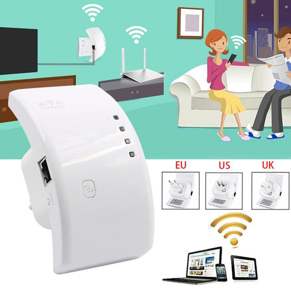 Wifi Booster Repeater Extender Range 300Mbps Wireless AP Router 802.11n EU/US/UK Plug