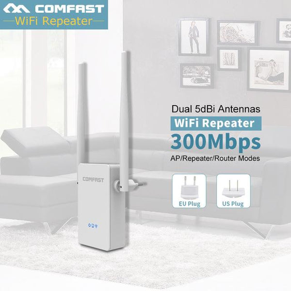 Wireless Wifi Repeater COMFAST CF-WR302S 300 Mbps 802.11n/b/g Network Wi fi Extender Amplifier Wifi Booster Repetidor Wi-fi