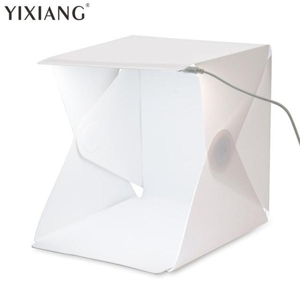 YIXIANG Folding Studio portable photography studio Mini foldable softbox with USB LED light Desktop black white backgound soft