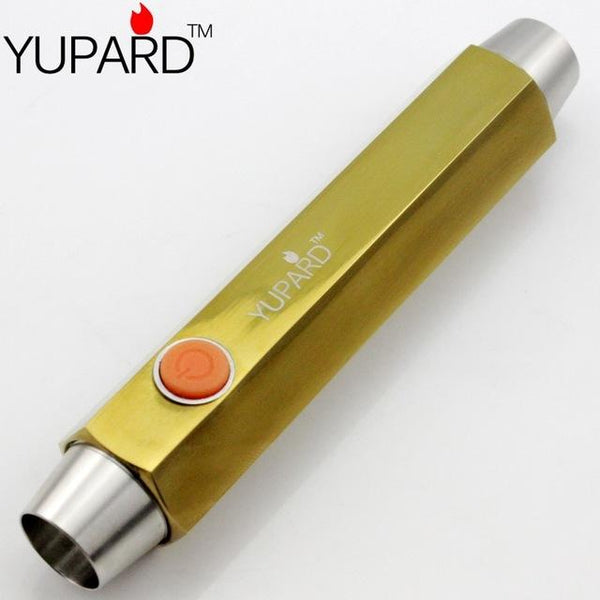 YUPARD 2* R5 LED stainless steel copper jade jewelry amber glare flashlight jade 4 modes double head outdoor sport camping