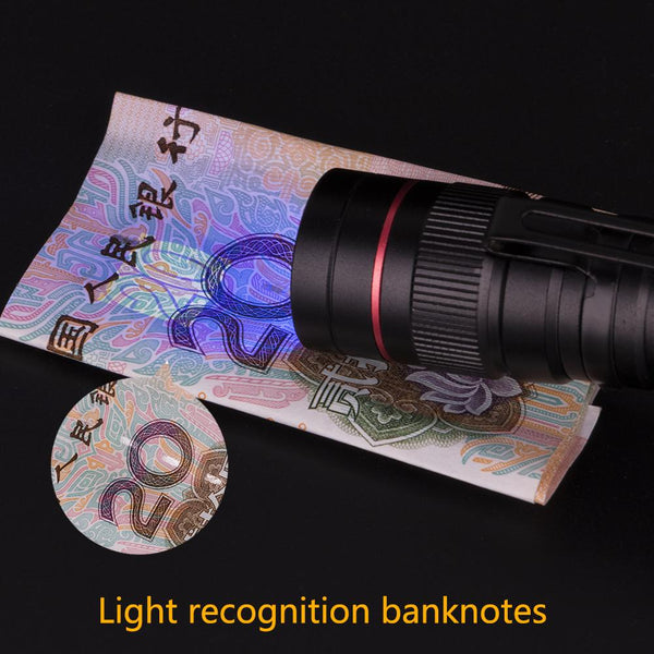 Zoomable Led UV Flashlight Torch Ultra Violet Light UV 395nm Purple Flashlight Lamp AA Battery For Marker Checker Detection
