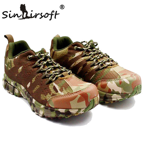SINAIRSOFT Outdoor Sport Hiking Shoes Men Mountain Boots Anti-skid Wear Resistant Breathable Waterproof Fishing trekking
