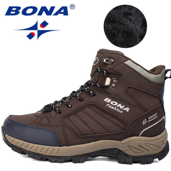 BONA New Classics Style Men Hiking Shoes Outdoor Walking Jogging Trekking Sport Shoes Multi-Fundtion Climbing Sneakers For Men
