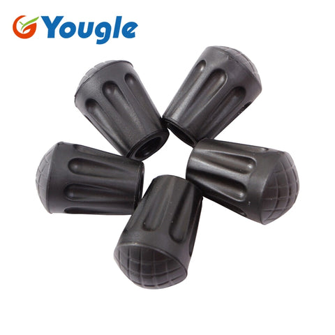 10/pcs lot Alpenstock Hiking Trekking Stick Pole Tip Pad Support Case Round Shaped Short outdoor tools