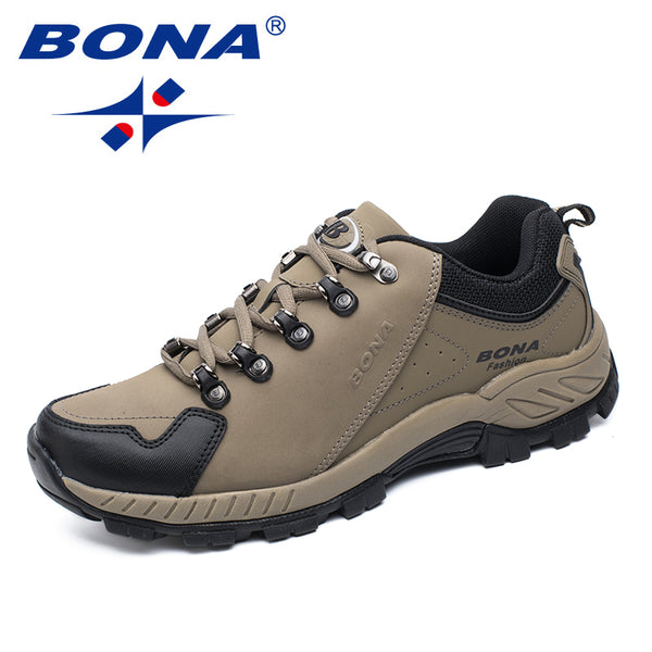 BONA New Popular Style Men Hiking Shoes Outdoor Jogging Trekking Sneakers Lace Up Athletic Shoes Comfortable Fast Free Shipping