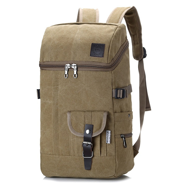 Multifunctional Large Capacity Canvas Backpack Men Mountaineering Travel Bag Trekking Rucksack Large Casual Back Pack Men's Gift