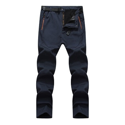 Mountainskin Men's Winter Softshell Fleece Pants Outdoor Sports Waterproof Skiing Trekking Hiking Camping Male Trousers VA076
