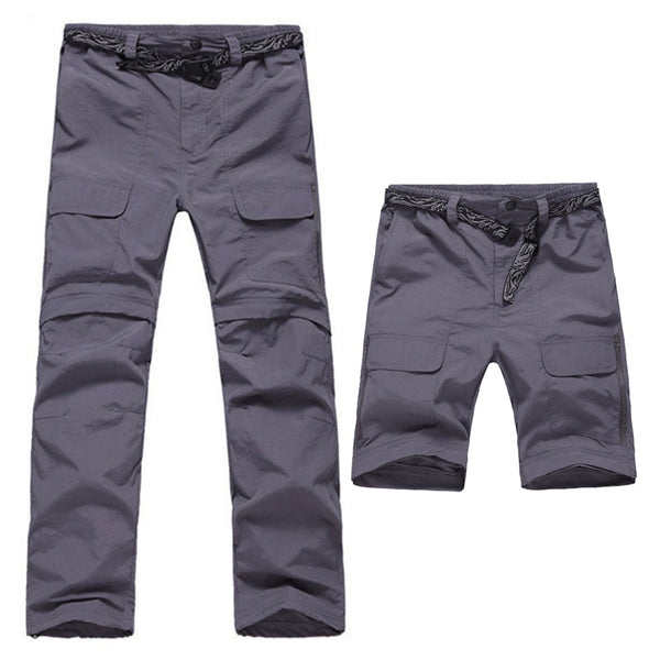 Mountainskin Men's Summer Removable Quick Dry Trekking Pants Outdoor Breathable Trousers Sports Hiking Camping Male Pants RM071